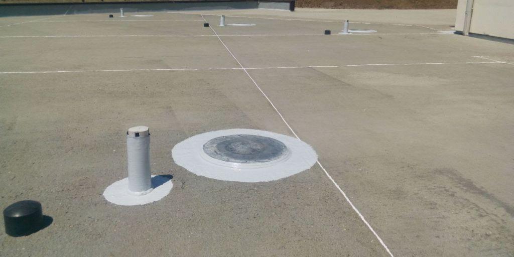 Hidroizolare guri de aerisire terasa