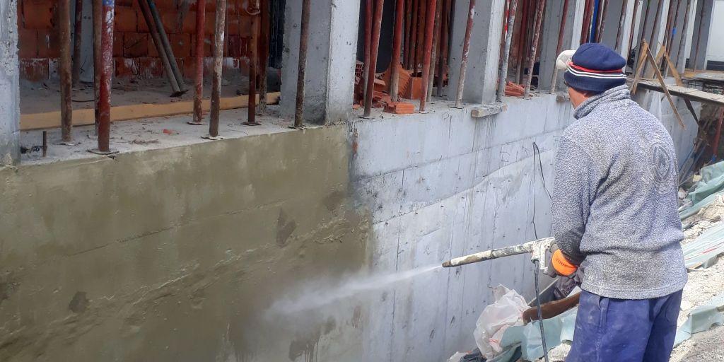 Hidroizolare fundatie scoala