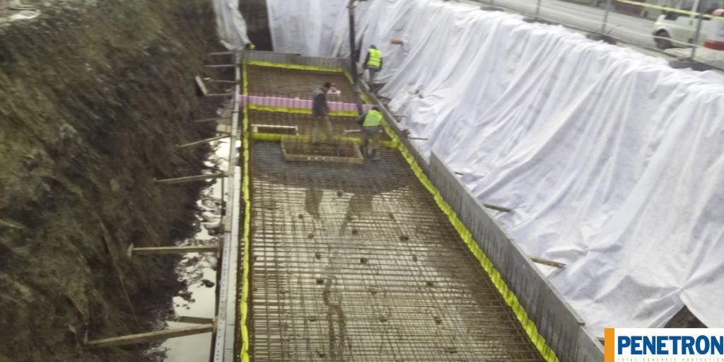 Turnare bazin de incendiu cu penetron admix